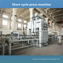 Geprägte Melamin-Plattenpresse / Melamin-Plattenherstellungsmaschine / Kurzzyklus-Laminier-Heißpresse