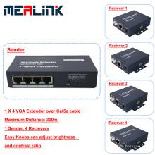 1 à 4 300m sur le prolongateur VGA de câble Cat5e