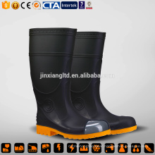 black yellow fashion safety rain boots