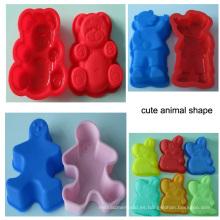 Formas animales preciosas molde del silicón para la galleta Galleta de la galleta de la galleta