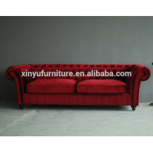 red chesterfield style reception sofa XY6000
