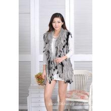 Fashion Knitted Fur Vest Rabbit Fur Waistcoat Jacket Women