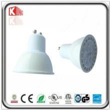 Lampe élevée du lumen 7W SMD LED GU10 dans le logement blanc