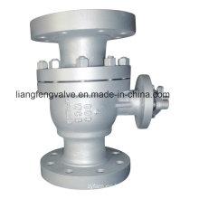 Válvula de bola de extremo de brida de acero inoxidable de 600 libras