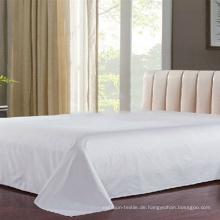 100% Baumwolle Plain White Bed Flat Sheet Hersteller (DPF1056)