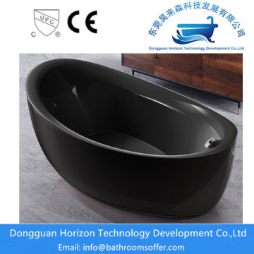 All Black freestanding bathtub stand alone tub