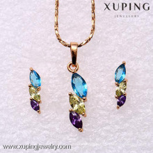 62167-Xuping Elegant Costume Jewelry Set Fashion Jewelry Design