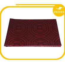 Factory custom design high quality wine color silk brocade fabric cotton jacquard bazin