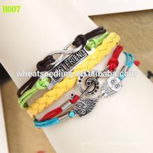 Multilayer Fashion leather love bracelet