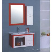 Mobília do armário de banheiro do PVC de 80cm (B-513)