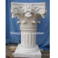 Pilar branco da escultura de mármore da pedra (SY-C015)