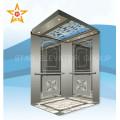 Espejo de grabado de acero inoxidable ascensor de pasajeros