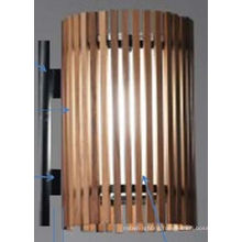 Superior Quality Popular Natural Wood Wall Lamp with Glass Shade