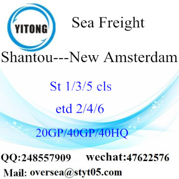 Shantou Port Sea Freight Shipping ke New Amsterdam