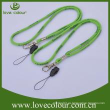 Custom ECO cordón tubular amistoso correa de cuello tejida Venta al por mayor cordón de cable Jacquard redonda