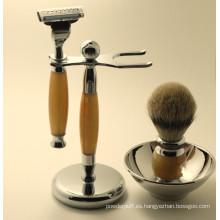 Kit de cepillo de afeitar de pelo de calidad superior de Sable
