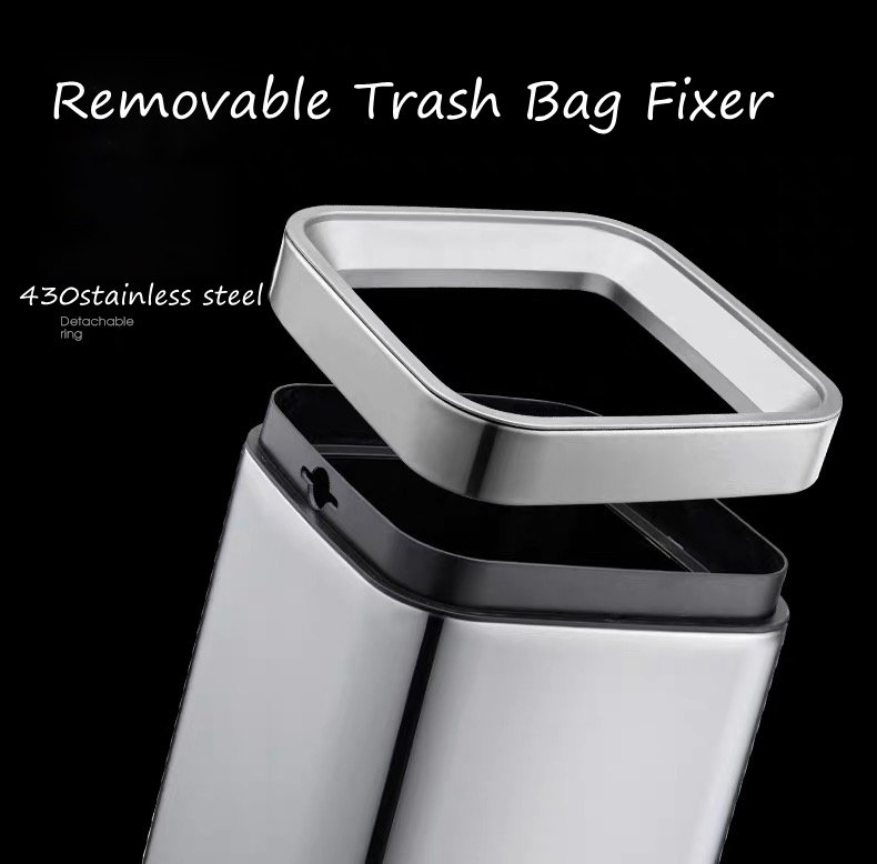 Litter Can with Removable Trash Bag Fixer
