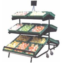 Vente de 3 niveaux de stockage légume grille chaude hiérarchisé végétale support niveau support légumes