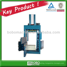Used textile compress baler machine