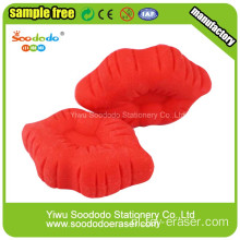Valentine's Gift Red Lip Rubbers Festival Erasers