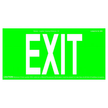 REALGLOW EXIT SIGN 75FT & 50FT