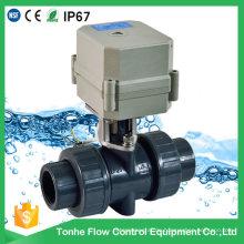 Elektrisches motorisiertes PVC-Plastikkugelventil IP67 2 Weise