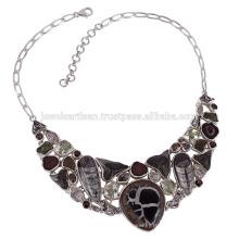 Окаменелости Шарья зубы Septarian Orthocereous ожерелье стерлингового серебра по лучшей цене