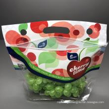 Good Printing Zipper Top Plastic Bag Fresh Keeping Fruit Vegetable Cherry Bag