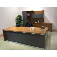 Bureau exécutif de meubles de bureau de directeur général de luxe avec le Cabinet (FOH-R2420-B)