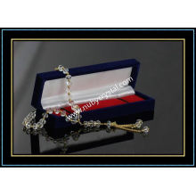 Optical Crystal Worry Beads with Silver/Golden Chain (k10)