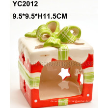 Ceramic Handpainted Candlesticker Holder