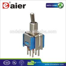 Daier SMTS-202 / 203-2C2T DPDT Interruptor de palanca de 8 pines