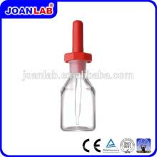 JOAN Garrafa de descarte de vidro de laboratório com fabricação de mamilo de borracha de látex