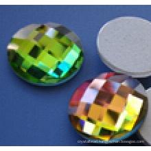 Round Flat Back Glass Beads Stones