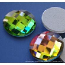 Runde flache Rückseite Glasperlen Steine