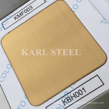 304 Stainless Steel Golden Color Hairline Kbh001 Sheet