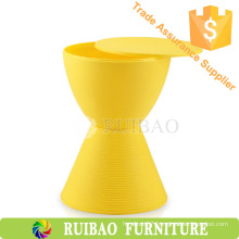 Fashionable New Design Home Furniture Colorful Plastic Stool Round Drum Stool
