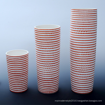 Cylinder-Shaped Design Tall Ceramic Office Crafts for Hotel Decorative (B133)