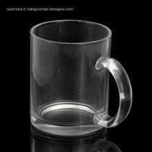 Personablised printing blank glossy 11oz sublimation glass mugs