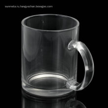 Personablised printing blank glossy 11oz sublimation glass mugs