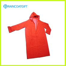 PVC/Polyester PVC Long Sleeve Waterproof Safety Raincoat