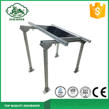 Sistema de montaje del soporte del panel solar en la base concreta
