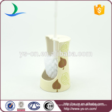 YSb50132-th Novo atacadista de cerâmica branca titular escova escova para hotel