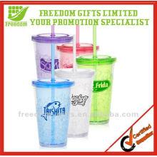 Logo publicitaire personnalisé tasse en plastique réutilisable en gros