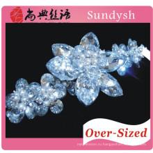игристое кристалл циркон цветок заявление браслет шинни