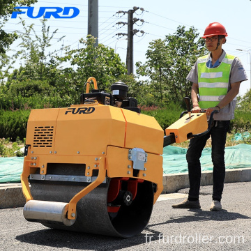 Single Drum Manual Vibrating Road Roller for Compaction Work