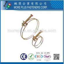 Hecho en Taiwán Cobre Schlauchklemmen doble alambre eléctrico abrazadera de la manguera