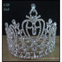 Свадебные серебряные украшения Тиара дети принцесса Тиара оптовые дети гребень тиары
