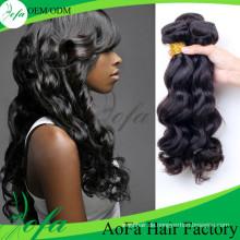 100% unverarbeitete natürliche Körperwelle Haar Remy Virgin Human Hair Extension