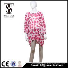 Latest Summer Woman Fashion Suspender Skirt v-Neck Loose Printed Chiffon Dress                                                                                                         Supplier's Choice